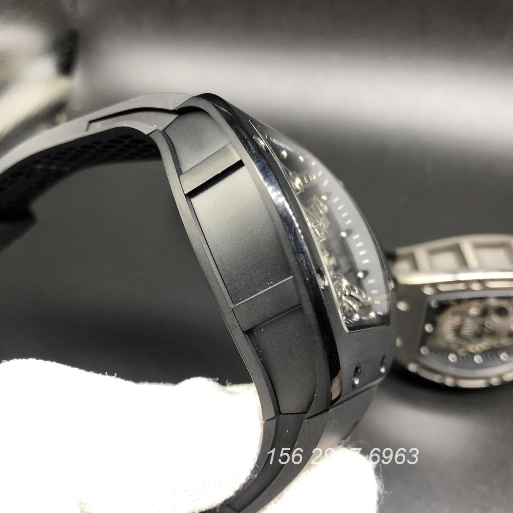 R575WT241, RM027 Tourbillon black Titanium case 42x50mm Eur factory
