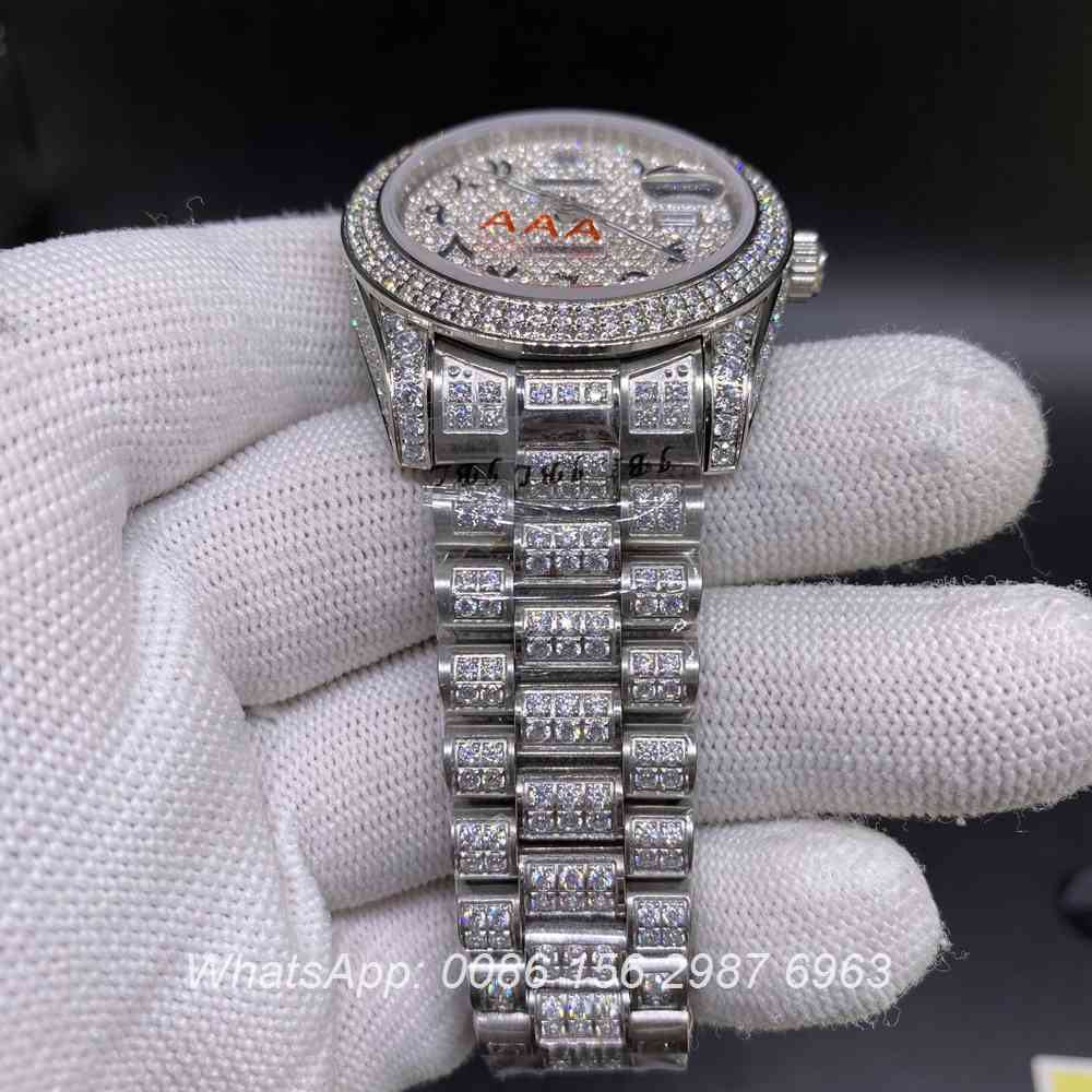 R106MH262, Datejust Arabic numerals dial 37mm shiny diamonds president strap
