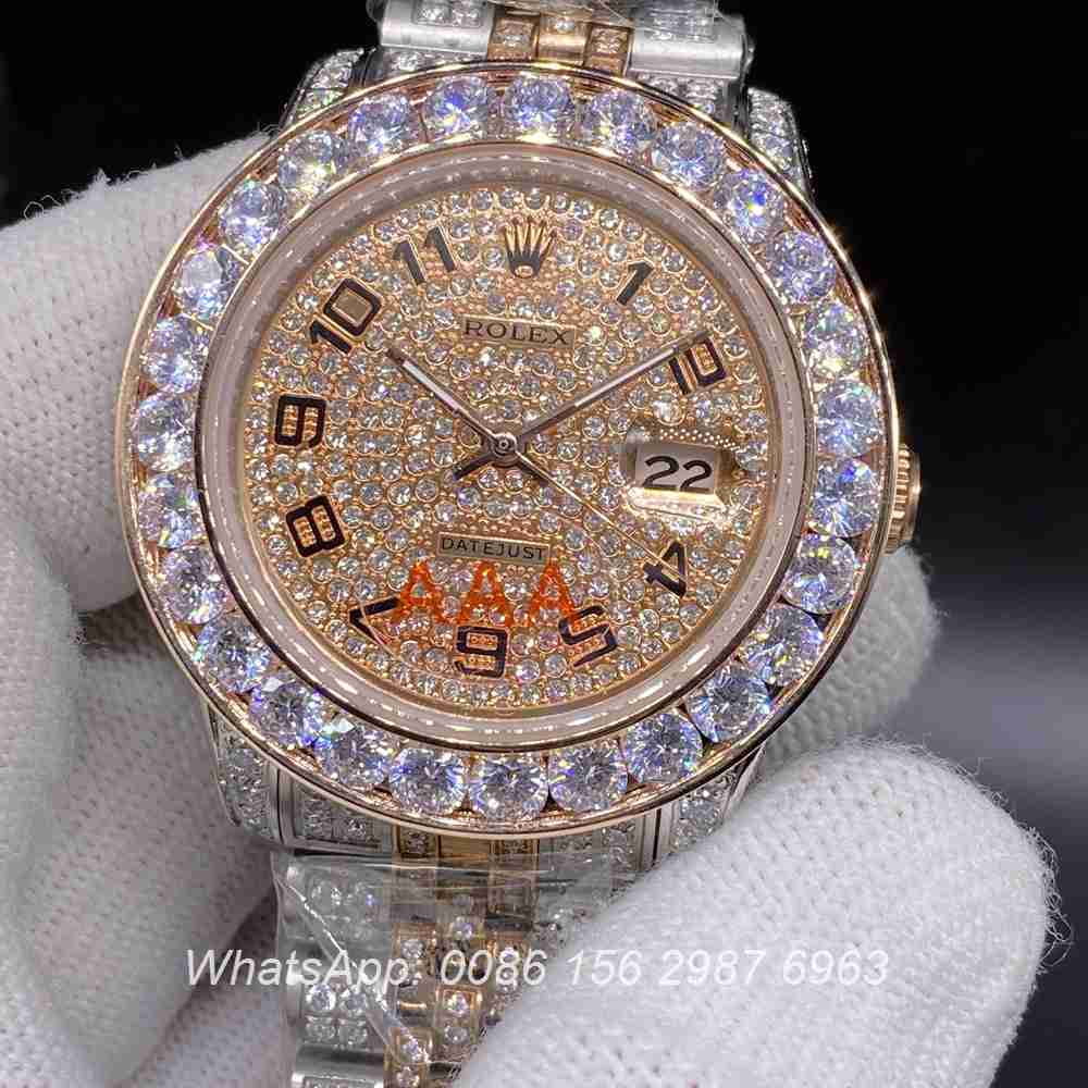 R105MH261, Datejust diamonds rose gold two-tone case 40mm automatic