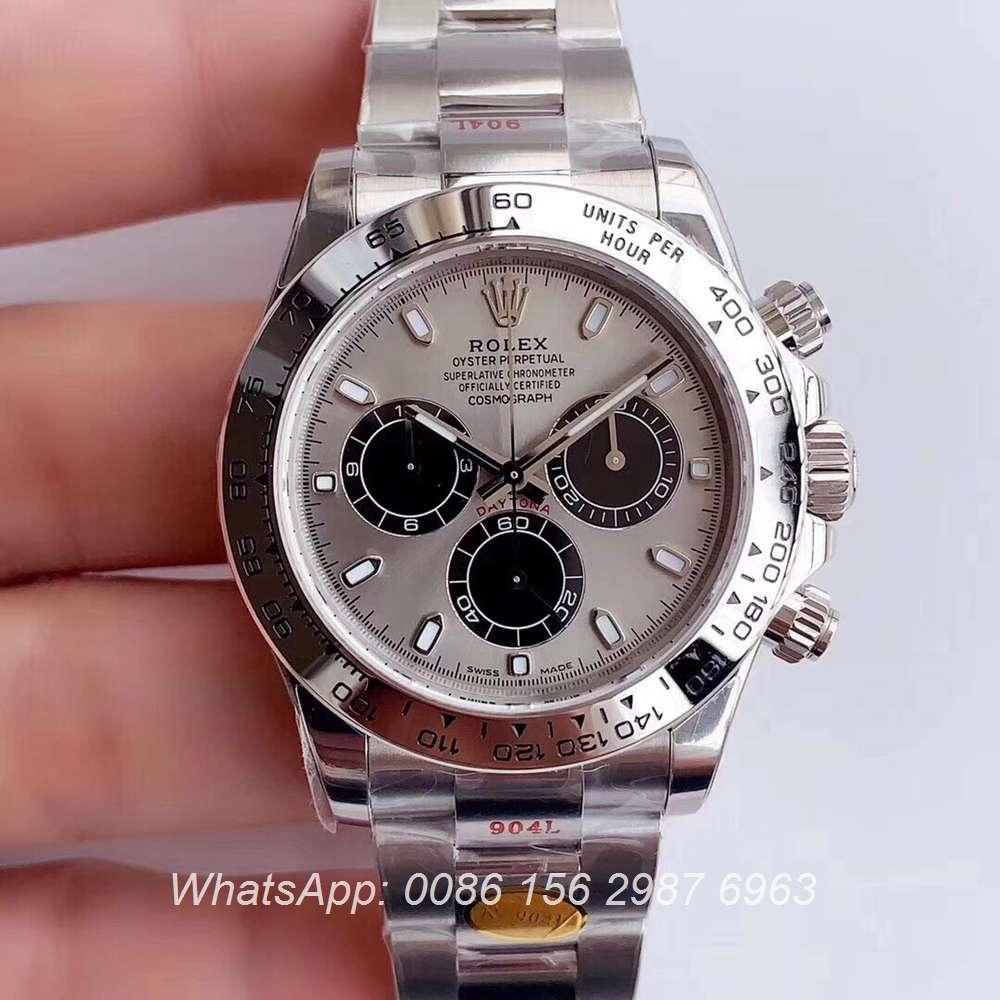 R305WT273, Daytona N 904L Cal.4130 chronograph silver/gray 38.5mm