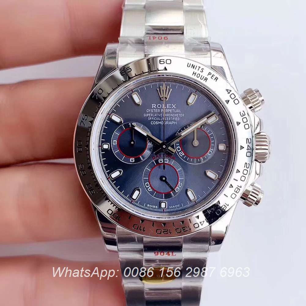 R305WT274, Daytona Noob 904L 4130 movement silver/blue 38.5x12.5mm Swiss