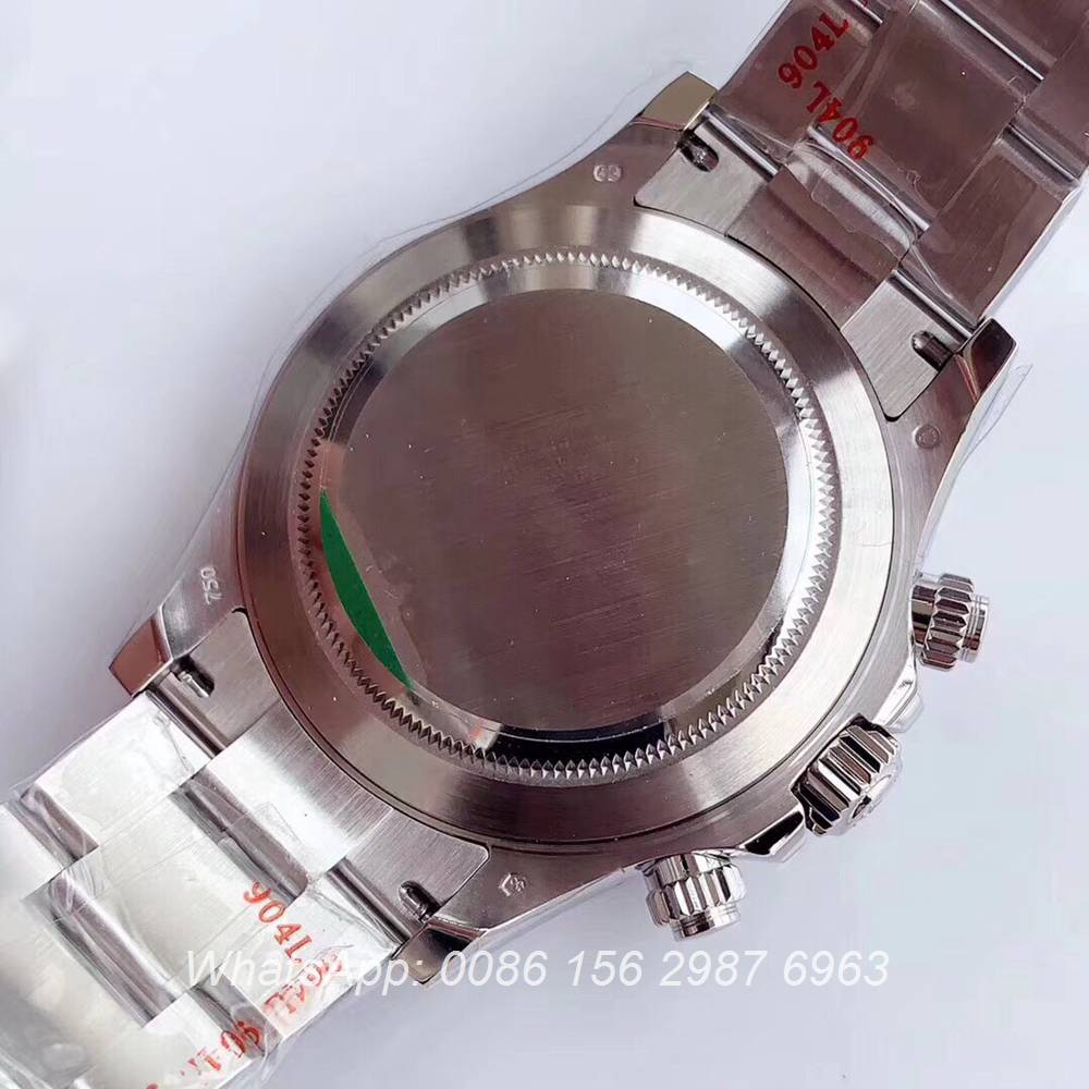R305SF276, Daytona Cal.4130 Noob factory 904L steel silver/black Perfect Swiss