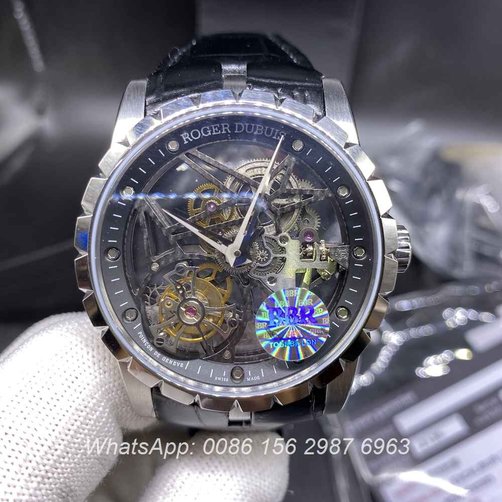 RD350WT277, Roger Dubuis Tourbillon BBR factory best quality sliver case skeleton