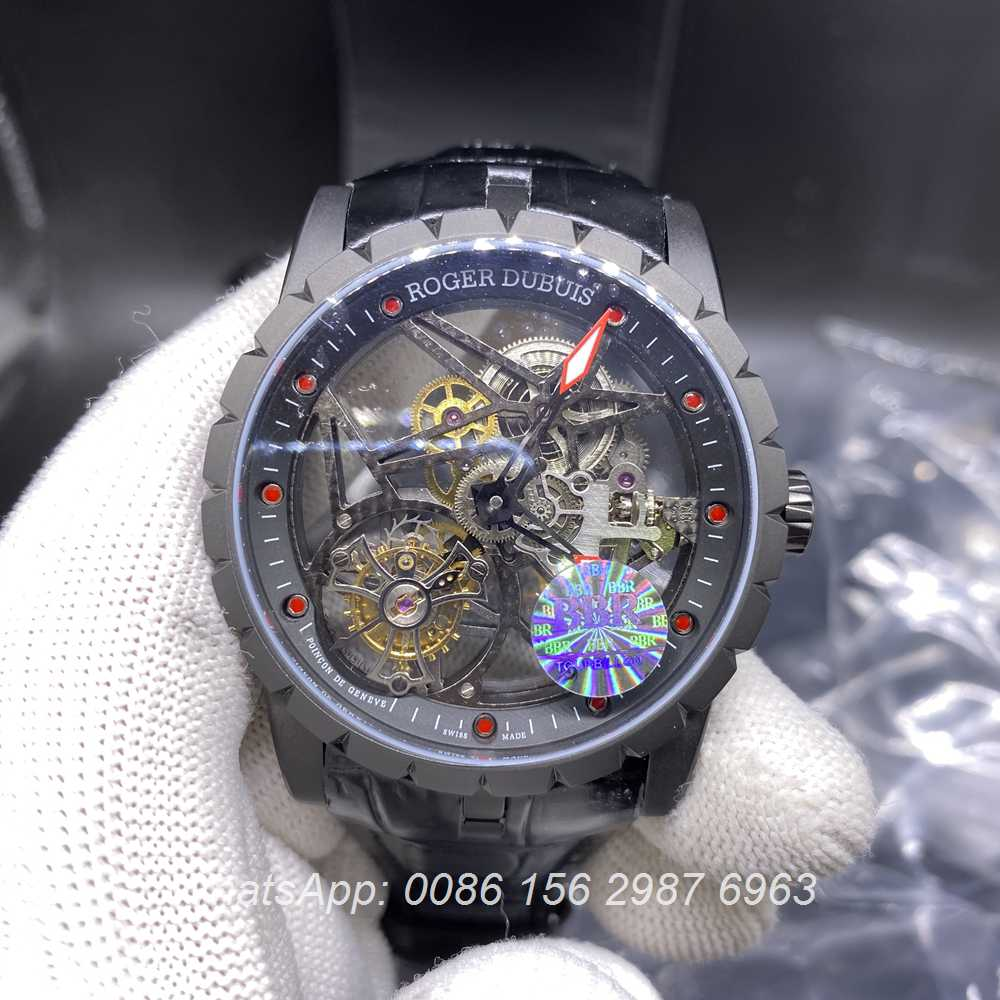 RD350WT278, Roger Dubuis tourbillon BBR factory black case top grade RD watch