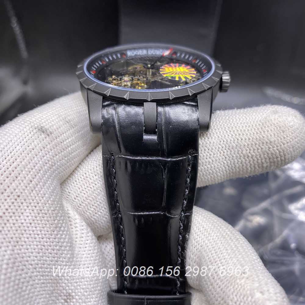 RD350WT278, Roger Dubuis tourbillon BBR factory black case top grade RD watch