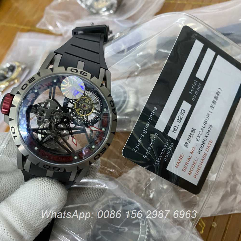 RD360WT282, Roger Dubuis tourbillon carbon case BBR factory high quality RD watches