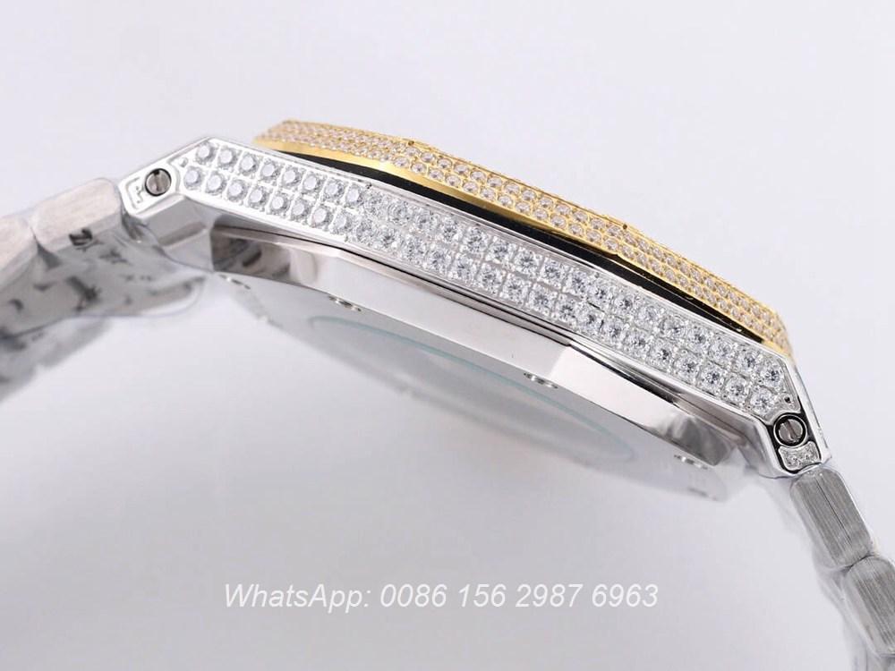 AP140SF299, AP diamonds two tone yellow gold shiny iced out men's watch