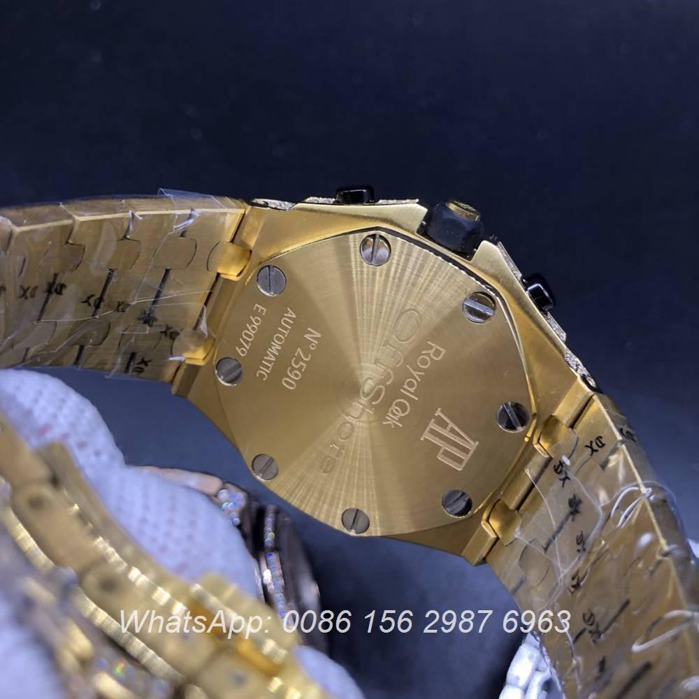 AP120SF302, AP diamonds gold case 42mm VK quartz chronograph full works