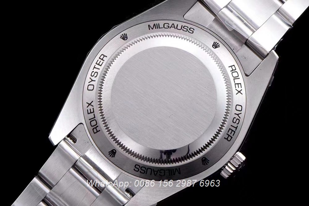 R155SF307, Milgauss AR factory 3131 movement 39mm high grade silver/blue