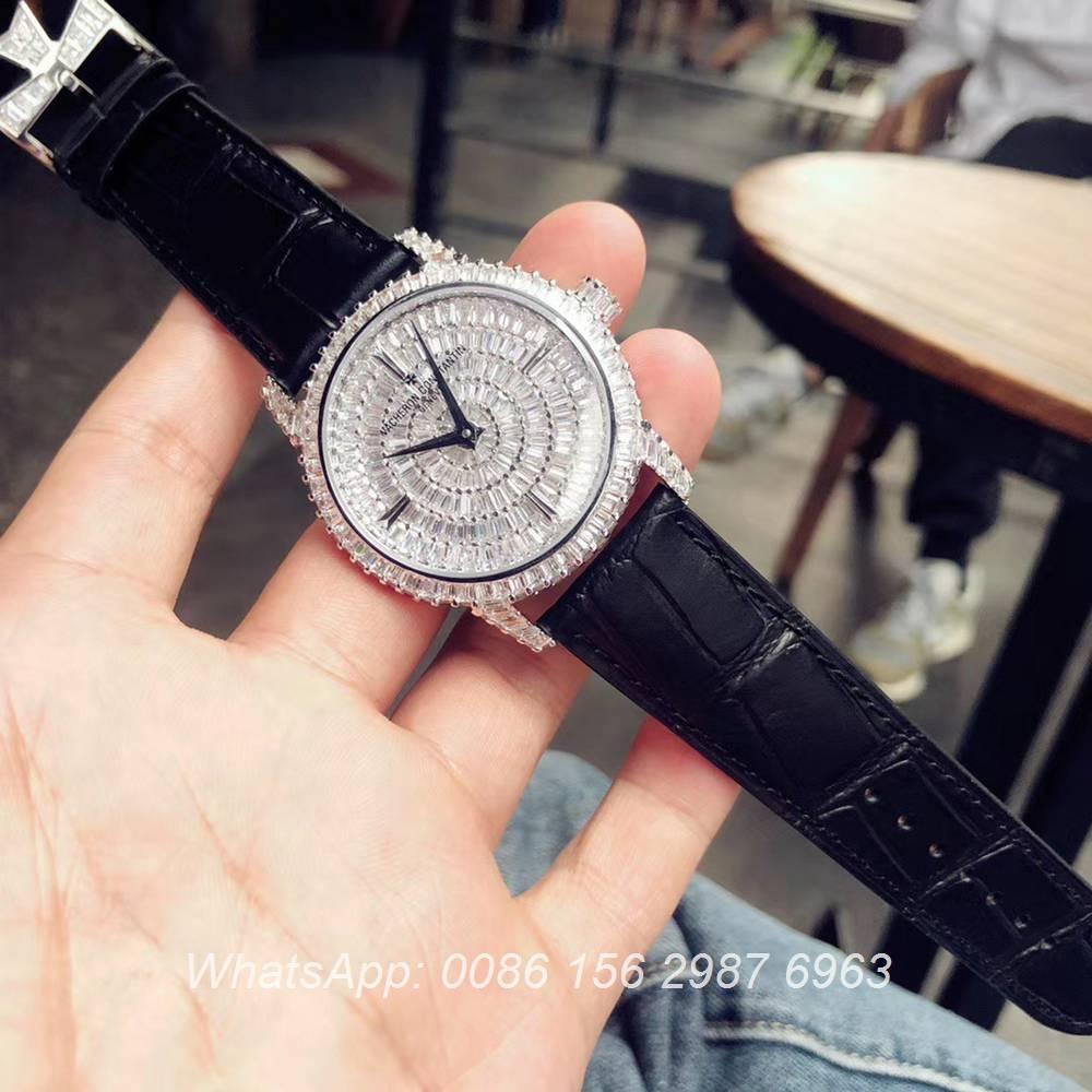 VC170XD309, Vacheron Constantin shiny baguette diamonds automatic luxury watch