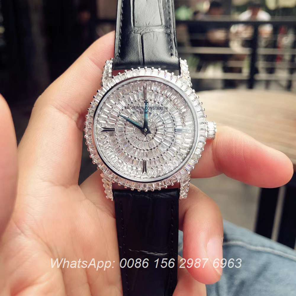 VC170XD309, Vacheron Constantin shiny baguette diamonds automatic luxury watch