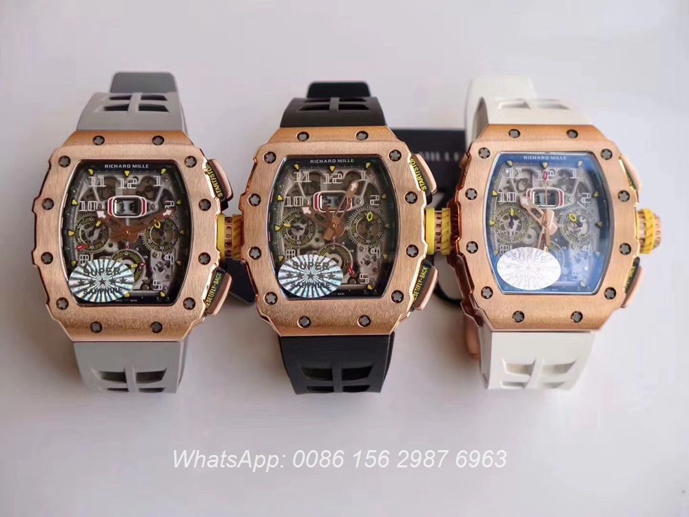 RM285WT310, RM11-03 rose gold Fly-back Chronograph 7750 KV factory
