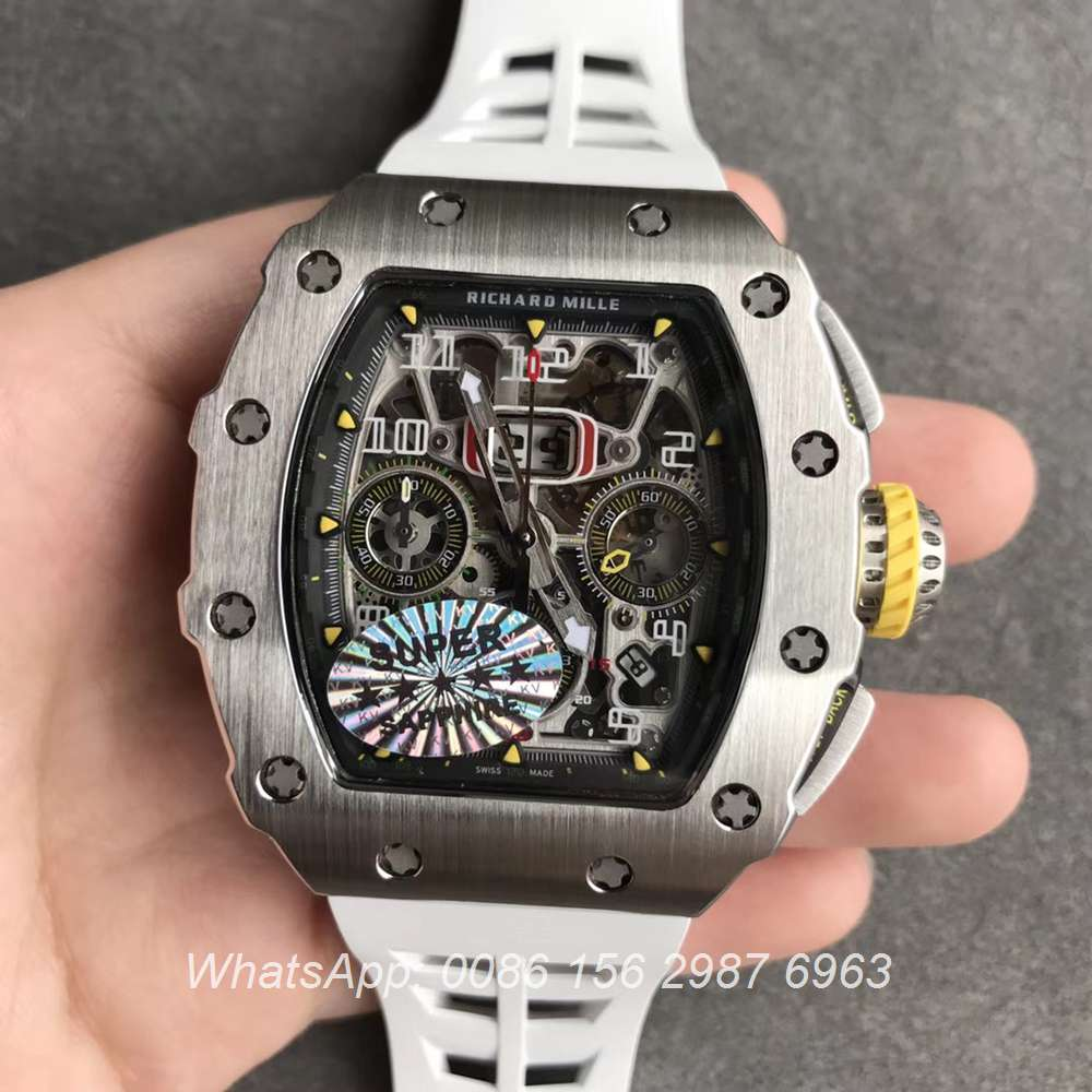 RM295WT311, RM11-03 KV factory silver case Chronograph 7750 top quality