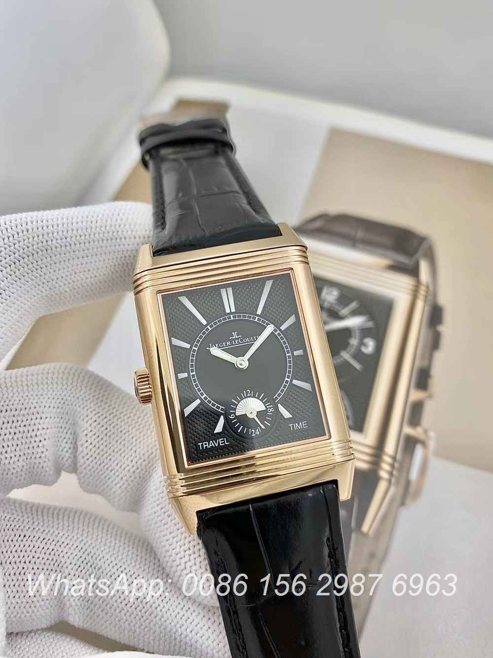 JL160XD318, JL Reverso Classic Large Duoface Small Second 29x49mm hands-winding