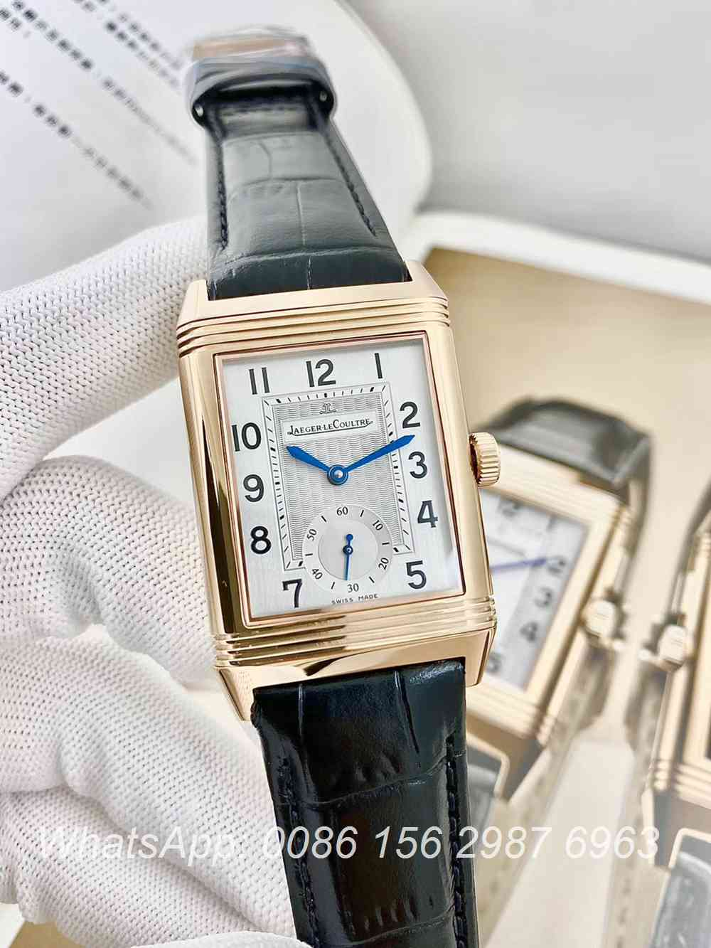 JL160XD319, JL reverso classic large duoface small second men's watch rose gold