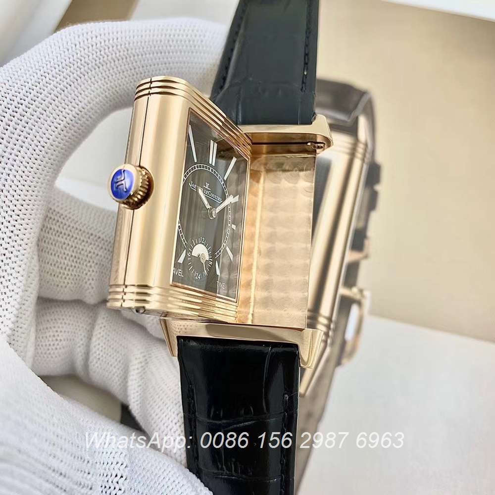 JL160XD317, JL rose gold Reverso classic Large Duoface Small Seconds hands-winding men's watch