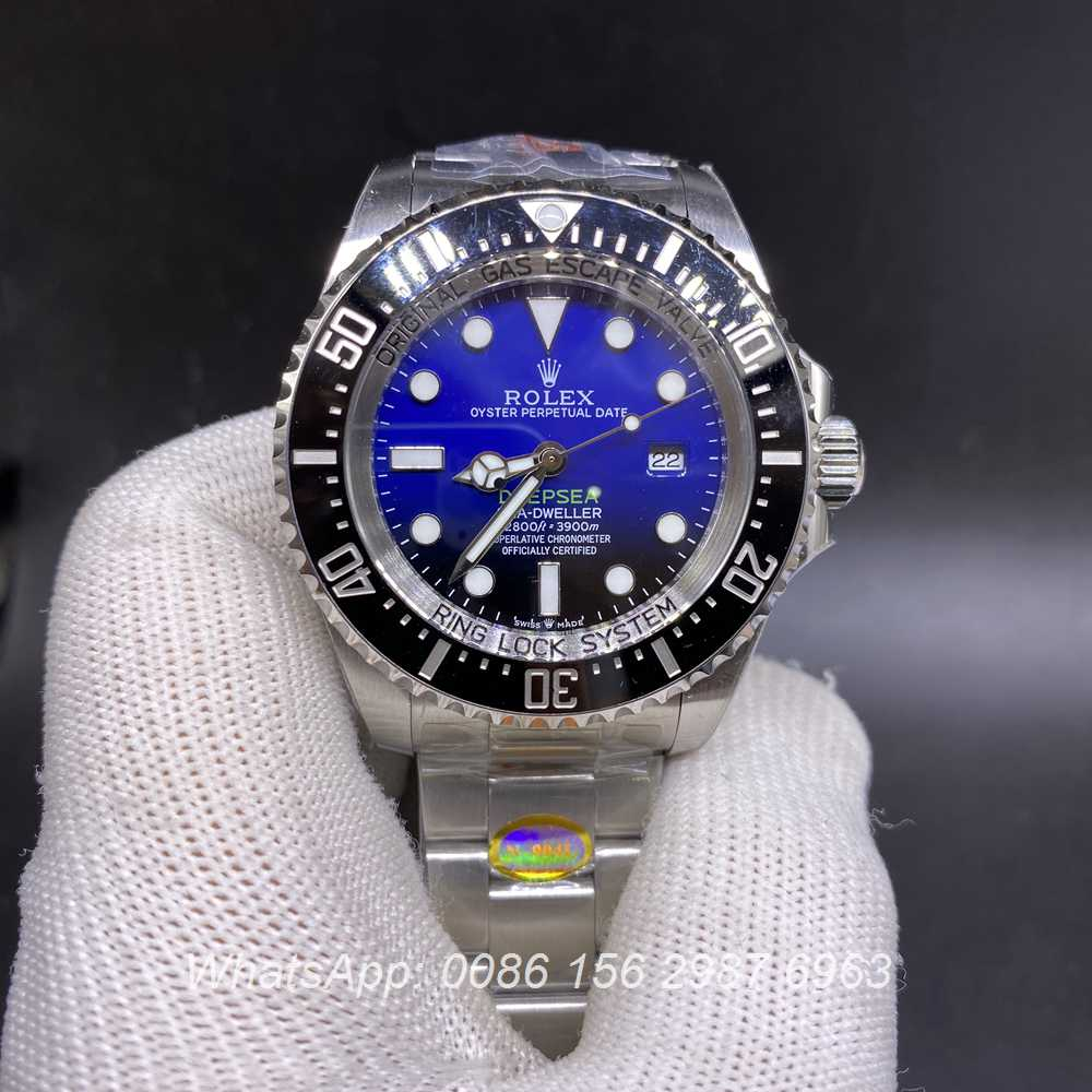 R160M332, SEA-Dweller DeepSea D-blue dial silver case 44mm 3135 high grade quality