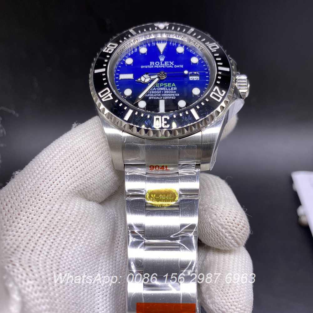 R160M332, SEA-Dweller DeepSea D-blue dial silver case 44mm 3135 high grade quality