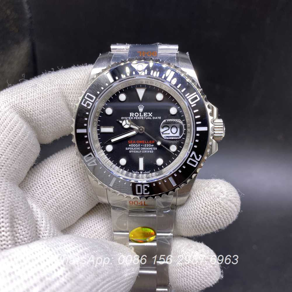 R160M334, Sea-Dweller m126600-0001 43mm deepsea red words high grade
