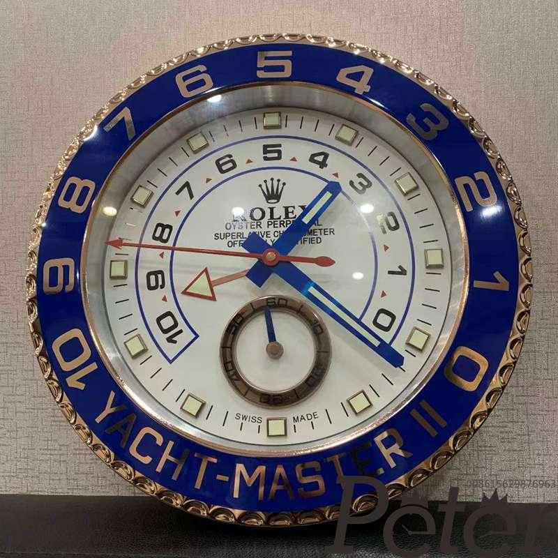 Wall clock Rolex YMII rose gold case