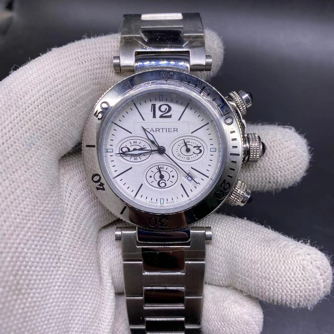Cartier OS quartz 41mm silver/white M026