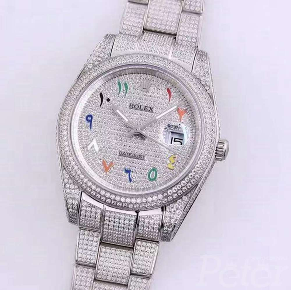 Datejust diamonds full white color M120 AAA