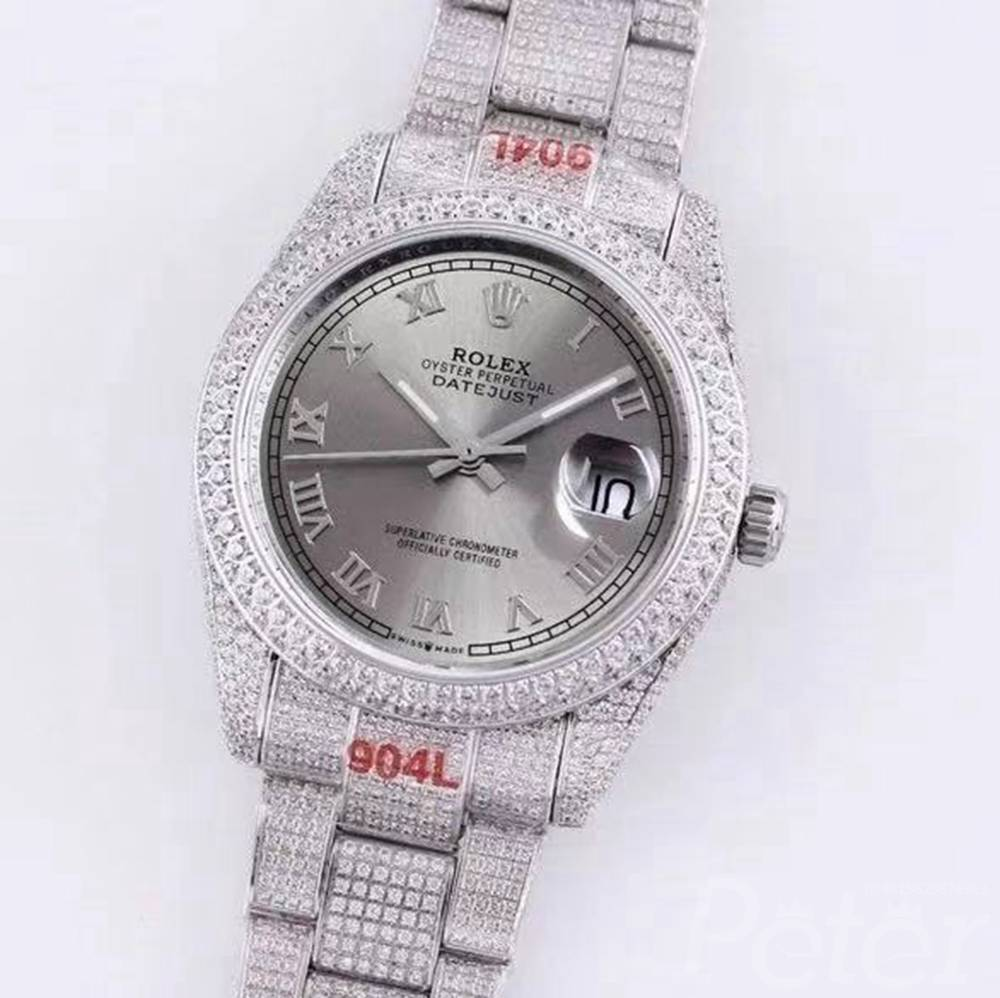 Datejust diamonds silver case with different color dials M120