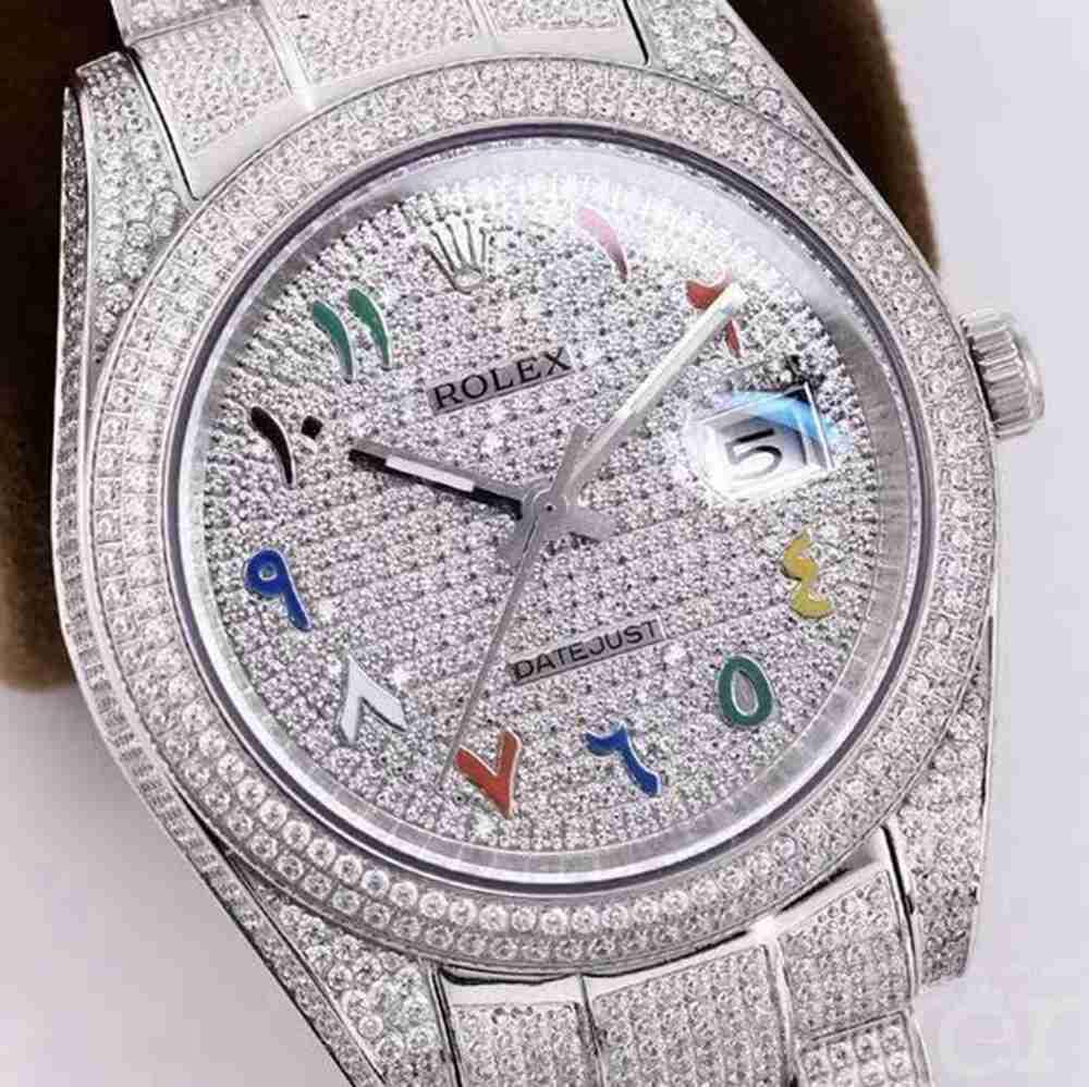 Datejust diamonds full white color M120 AAA