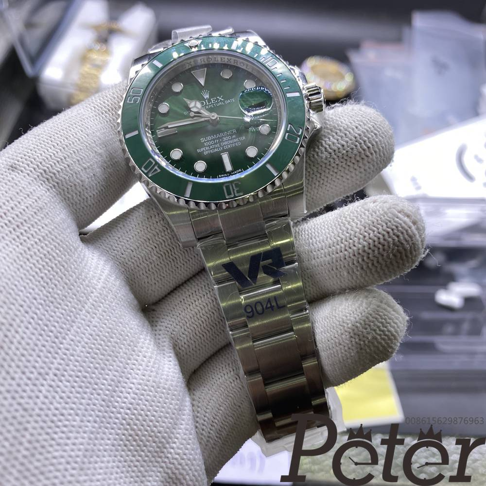 SUB hulk 3135 VR factory green ceramic bezel 904L steel WT2CEK