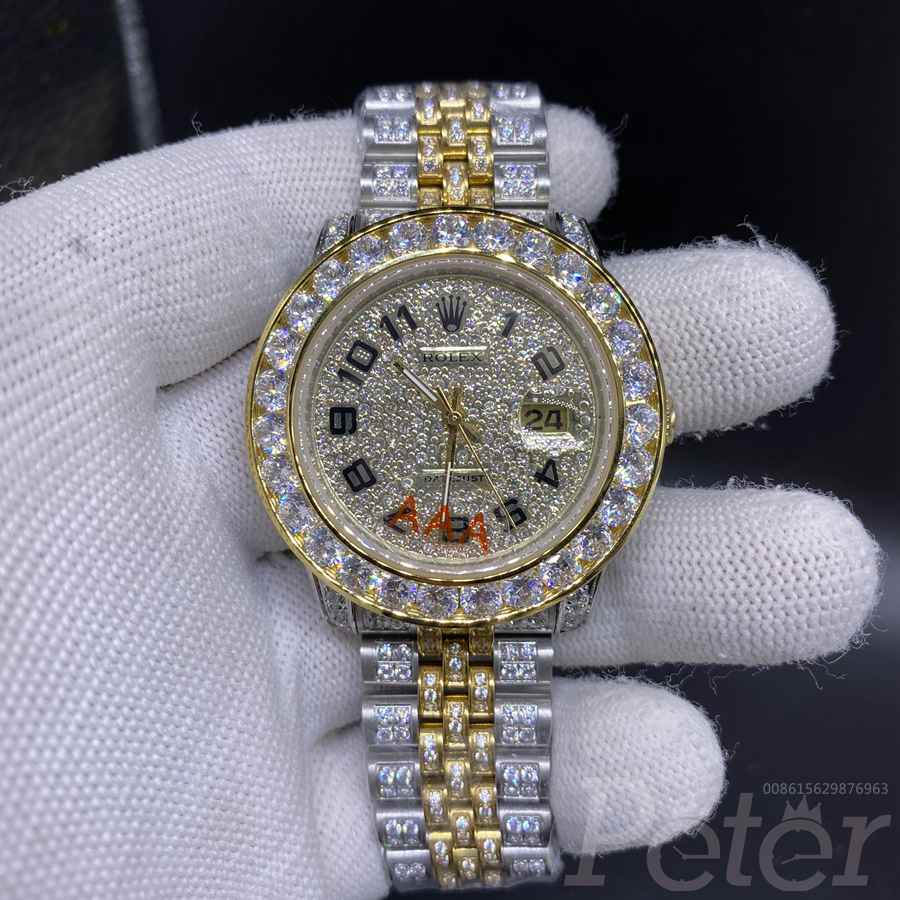 Datejust diamonds 2tone gold case 40mm jubilee band MH105