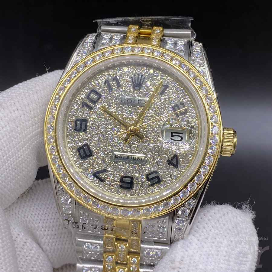 Datejust two tone gold diamonds case 36mm jubilee band MH105