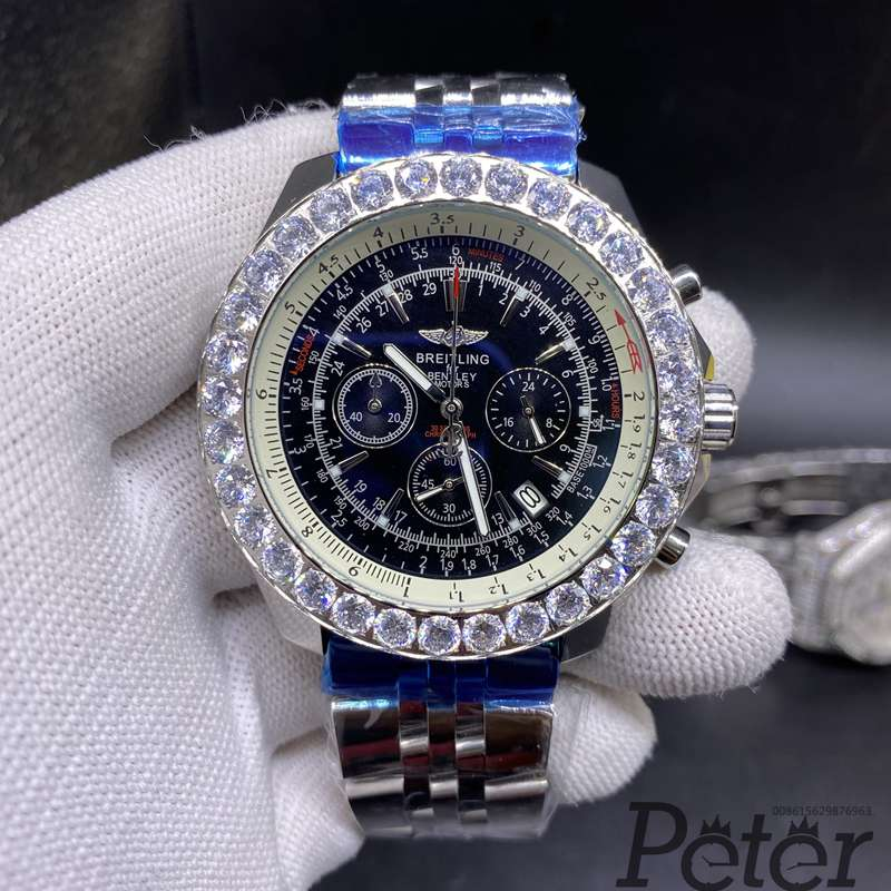 Breitling black dial 48mm quartz M033