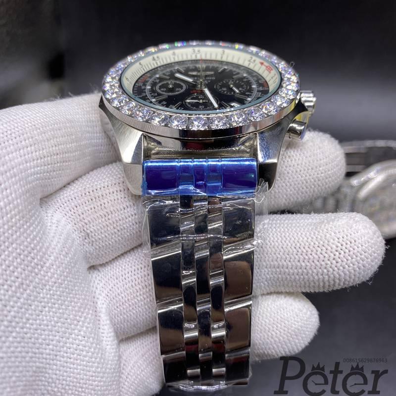 Breitling black dial 48mm quartz M033