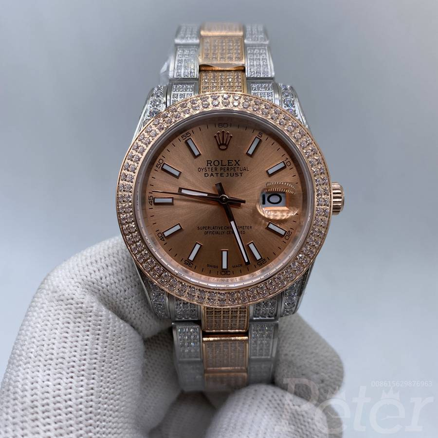 Datejust 37mm rose gold 2tone diamonds case MH105
