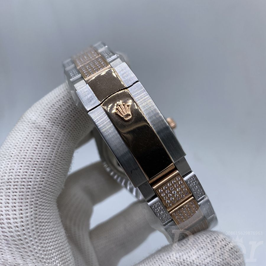 Datejust 37mm rose gold 2tone diamonds case MH105