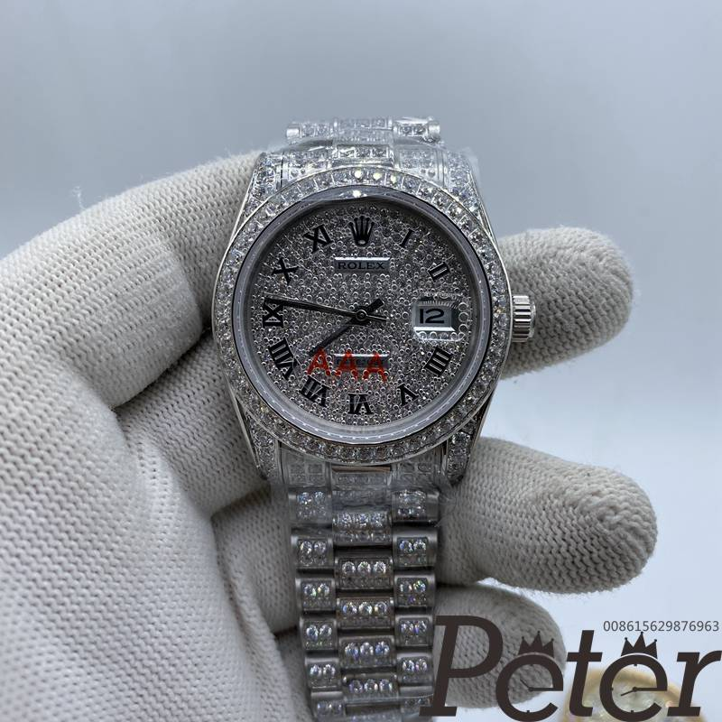 Datejust 36mm automatic all white zircon stones women watch MH092
