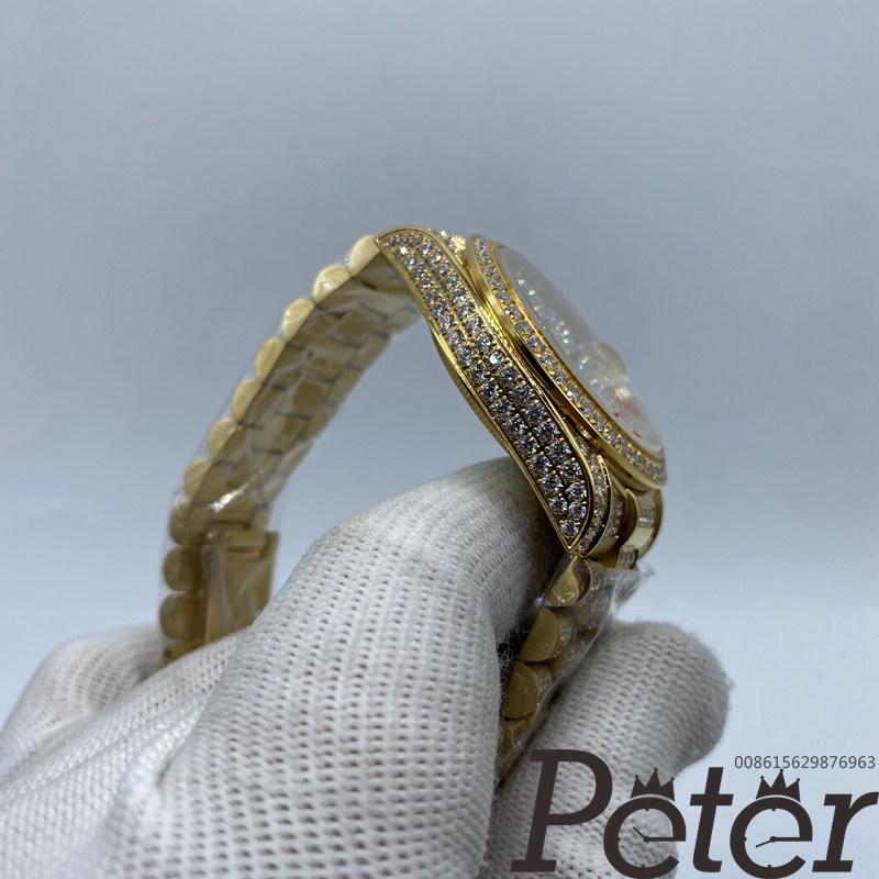 Datejust 36mm all gold full diamonds automatic women watch MH097