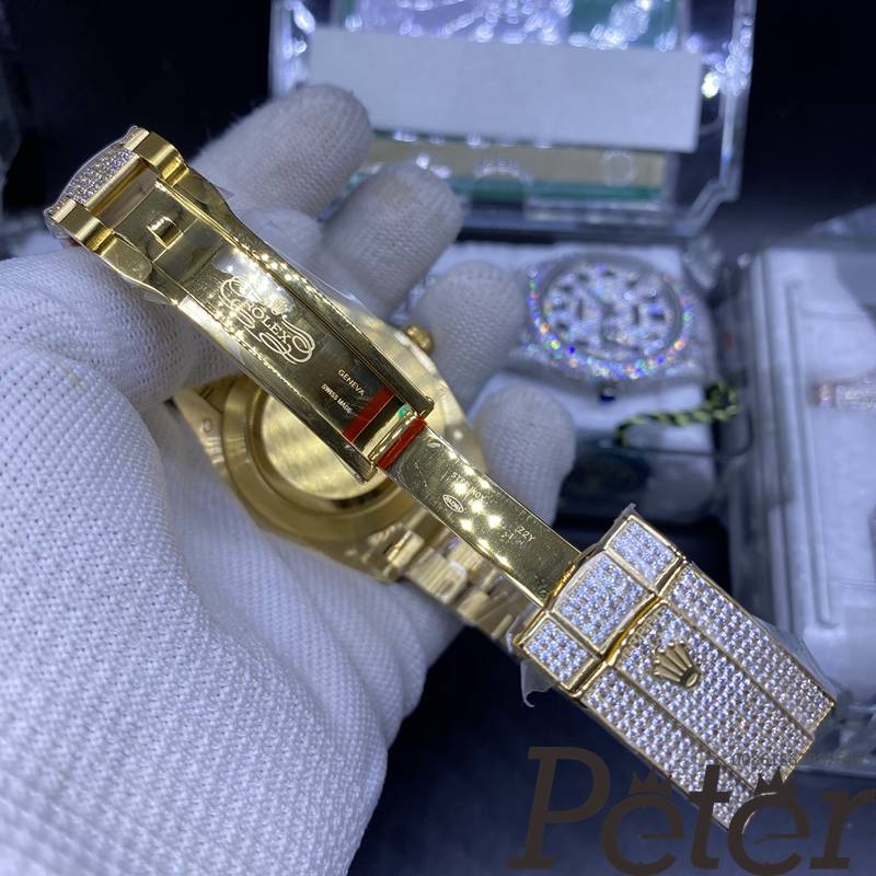 Datejust 40mm all gold case Swarovski diamonds new pictures XD290