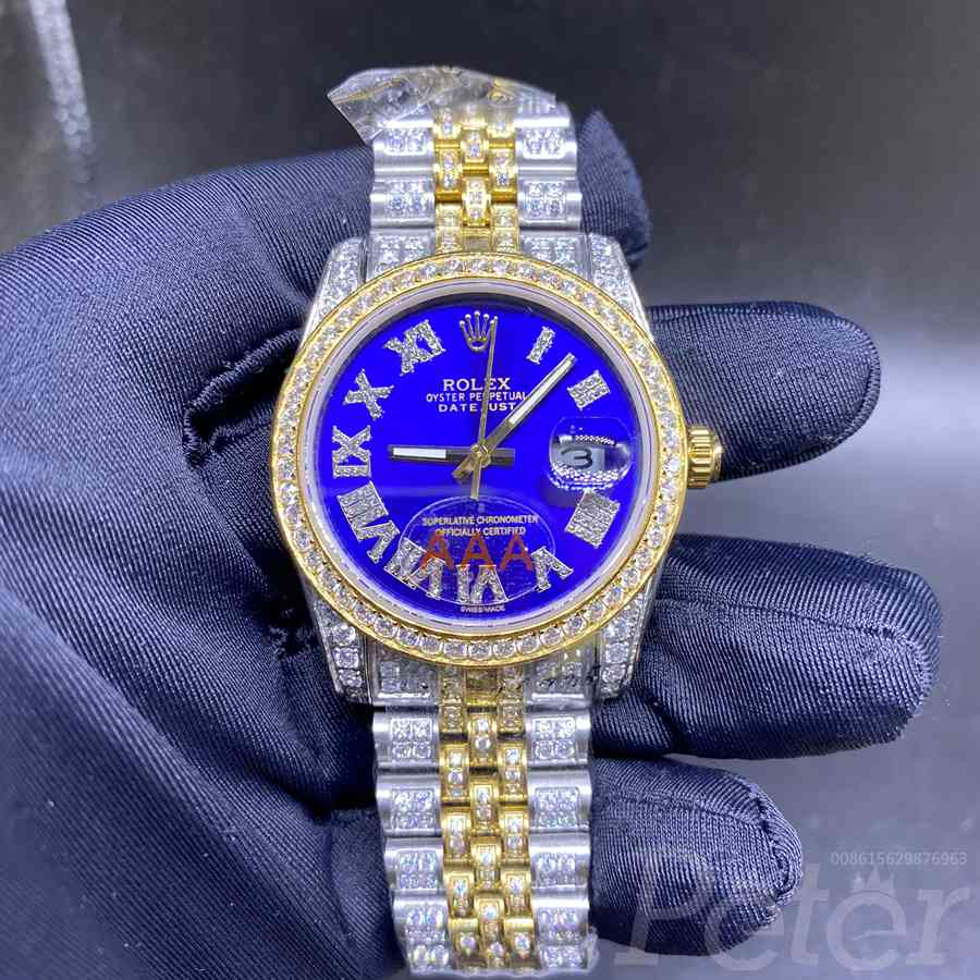 Datejust 36mm 2tone gold diamonds case blue dial automatic MH1KEK