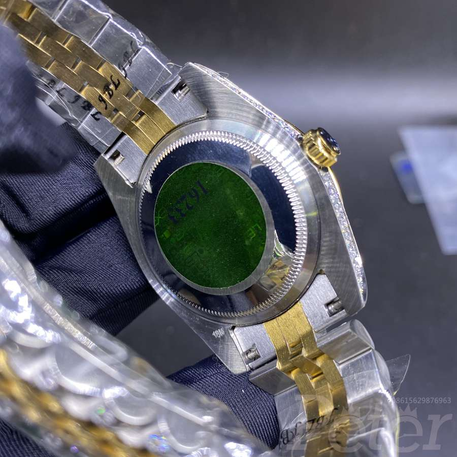 Datejust 36mm 2tone gold diamonds case blue dial automatic MH1KEK
