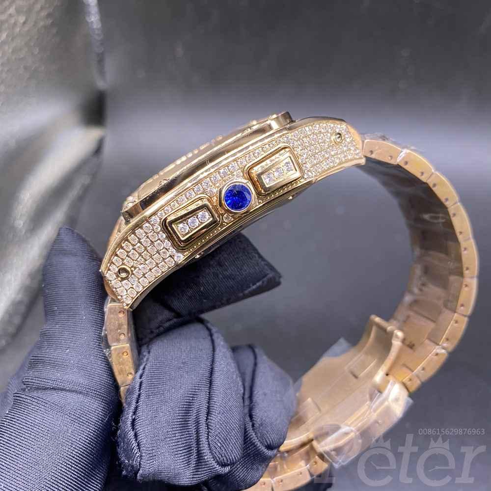 Cartier diamonds rose gold 44mm VK quartz M130