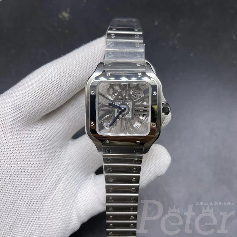Cartier skeleton case 38mm Swiss quartz WS185