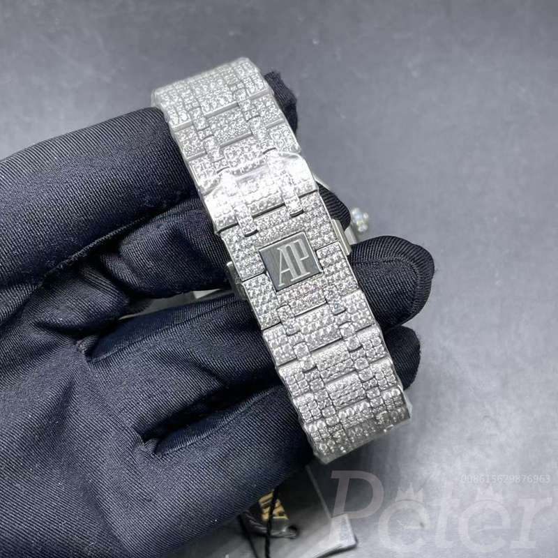 AP 41mm bust down diamonds siliver case regular numbers XD330