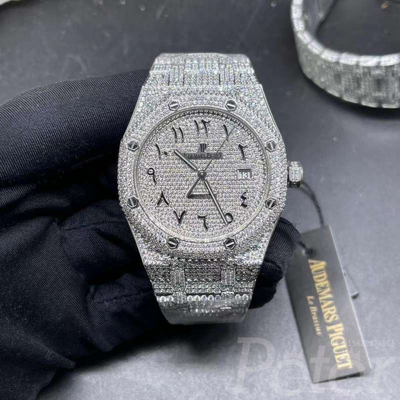 AP 41mm bust down diamonds swarovski arabic numbers XD330