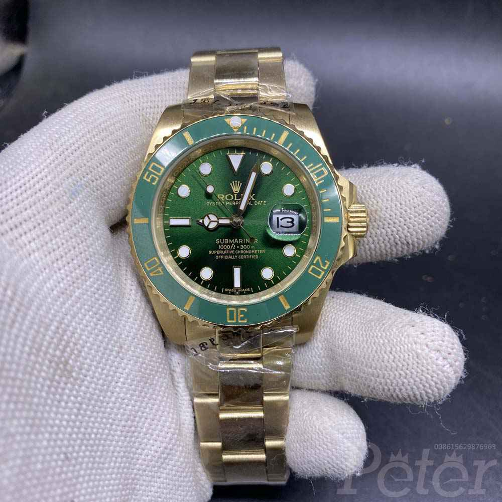 SUB gold case green dial 40mm S026