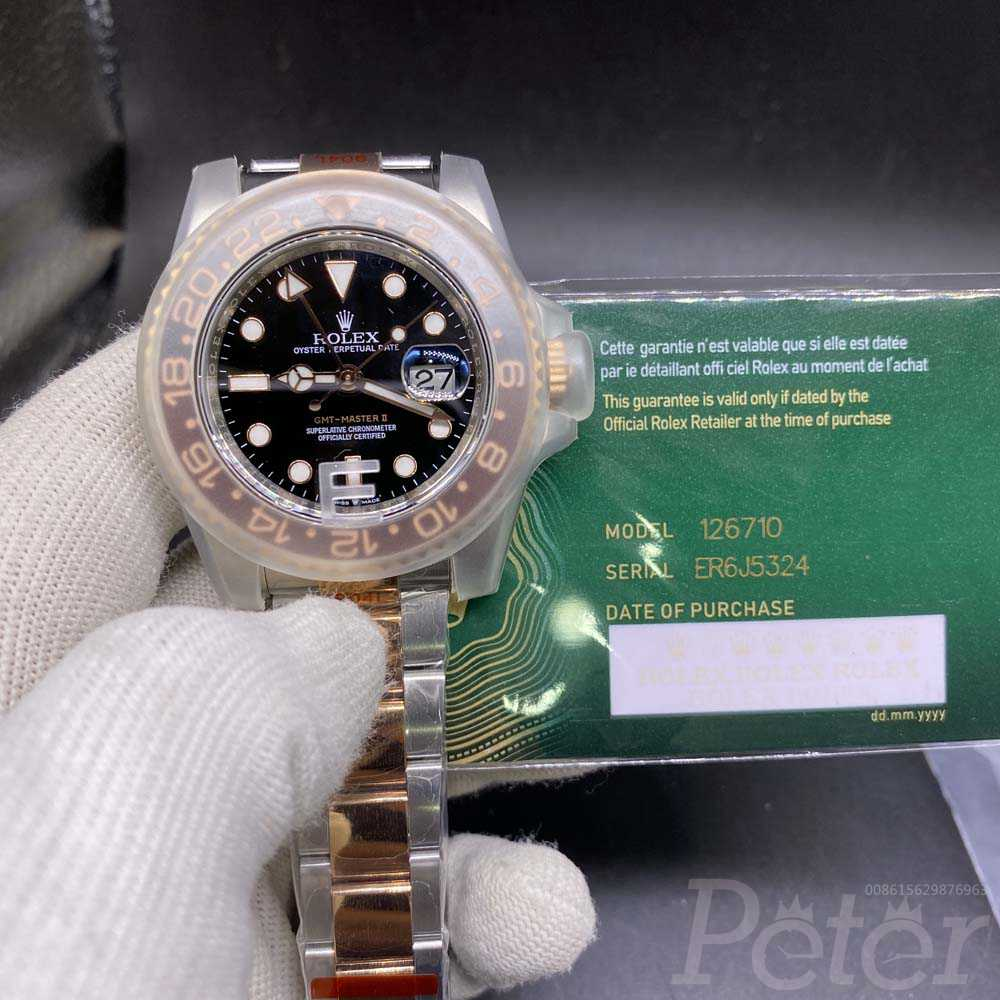 GMT two tone rose gold EW factory 3186 M125
