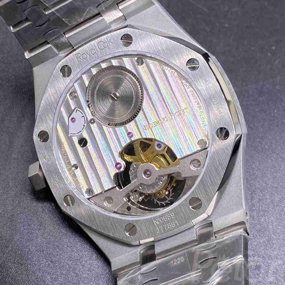 AP real tourbillon silver case black dial R8 factory XD335
