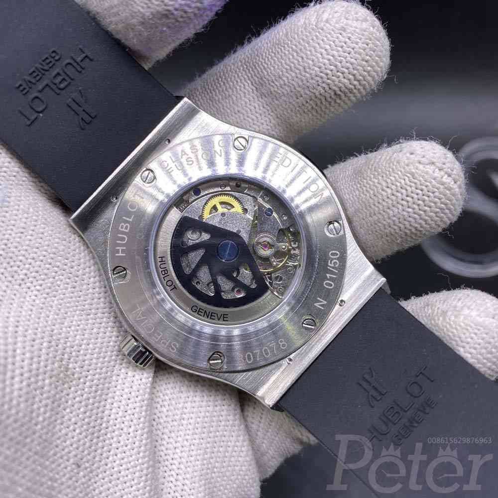 Hublot diamonds face silver case Automatic XJ058