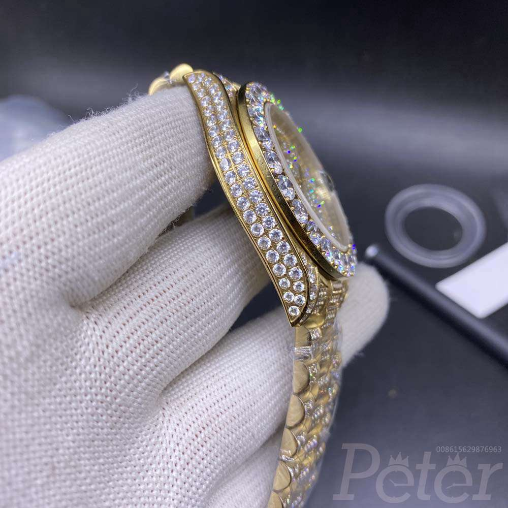 DayDate 43mm diamonds yellow gold S095