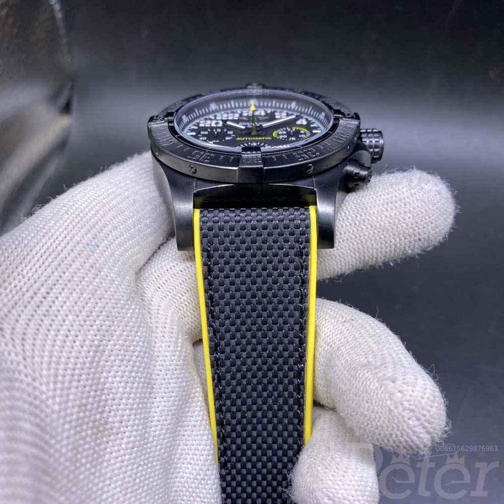 Breitling black case black dial black rubber quartz AAA 47mm Mxxx